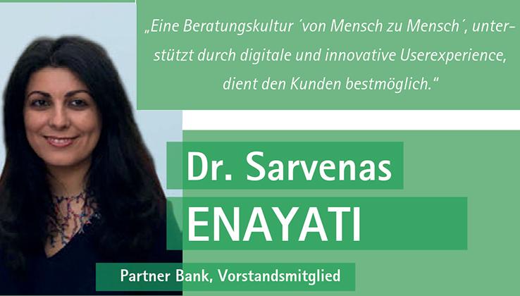 Vorstand Dr. Enayati im Gespräch mit Best Banking