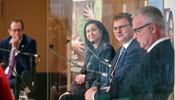 Partner Bank Vorstand Andreas Fellner beim OÖN Geld-Tag 2020